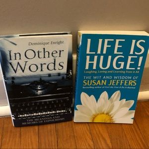 Other - 2 Books-Life is Huge and In Other Words